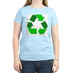 Recycle Environment Symbol (Front) Women's Pink T-