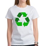 Recycle Environment Symbol (Front) Women's T-Shirt