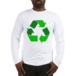 Recycle Environment Symbol (Front) Long Sleeve T-S