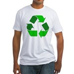 Recycle Environment Symbol (Front) Fitted T-Shirt