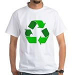 Recycle Environment Symbol White T-Shirt