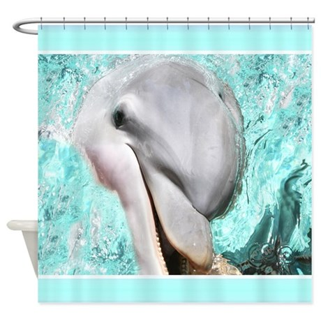 Smiling Happy Dolphin Shower Curtain By