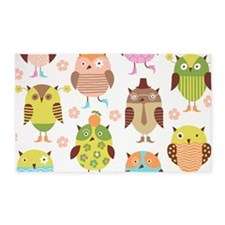 Cute Owls 3'x5' Area Rug