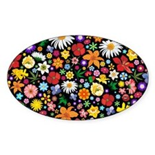 Spring Flowers Pattern Bumper Stickers