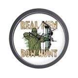 Real Men Bow Hunt Wall Clock