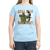Real Men Bow Hunt Women's Pink T-Shirt