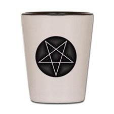 Silver Pentacle Shot Glass