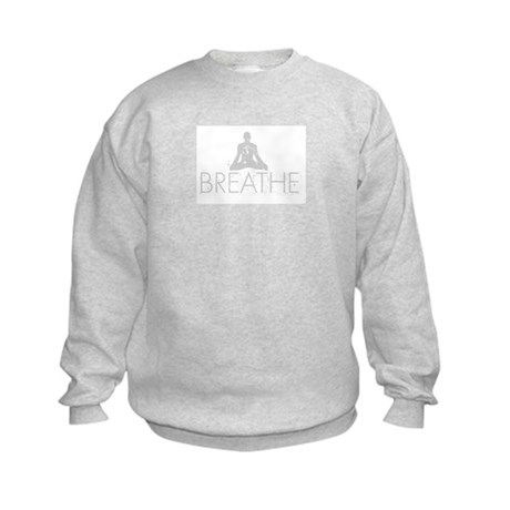 Breathe, grunge Yoga Design Kids Sweatshirt
