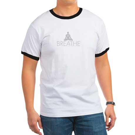 Breathe, grunge Yoga Design Ringer T