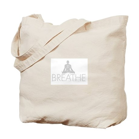 Breathe, grunge Yoga Design Tote Bag