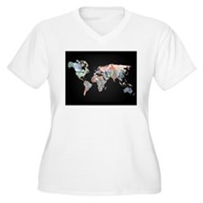 World Money Fiat Currency Map Plus Size T-Shirt