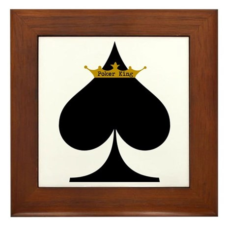 Poker King Framed Tile