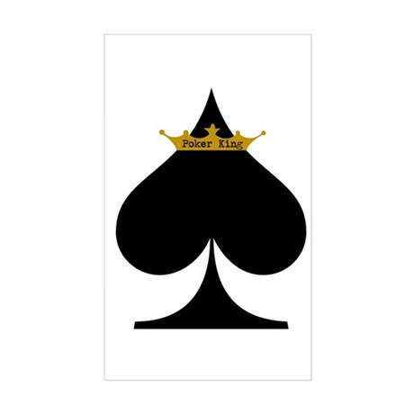 Poker King Rectangle Sticker