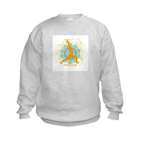 Get it Om. Warrior 1 Yoga pos Kids Sweatshirt