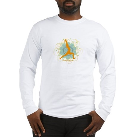 Get it Om. Warrior 1 Yoga pos Long Sleeve T-Shirt