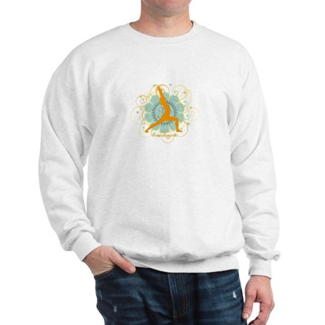 Get it Om. Warrior 1 Yoga pos Sweatshirt