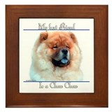 Chow Best Friend2 Framed Tile