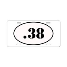 .38 Special Oval Design Aluminum License Plate