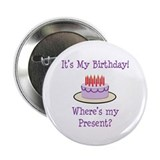 It's My Birthday Button