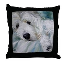 Lounging in the Shadows Throw Pillow