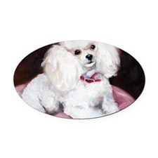 pretty on pink Oval Car Magnet