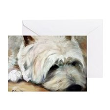 Dog Tired Greeting Card