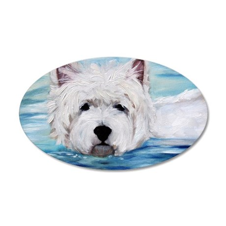 Furry Dippin 35x21 Oval Wall Decal