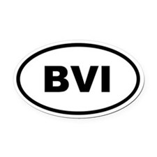 British Virgin Islands Oval Car Magnet