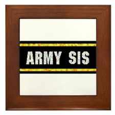 Army Sis Framed Tile