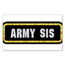 Army Sis Rectangle Decal