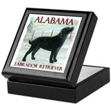 Alabama Labrador Keepsake Box
