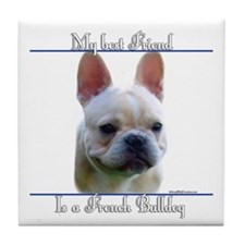 Frenchie Best Friend2 Tile Coaster