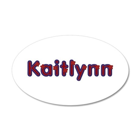 Kaitlynn Red Caps 20x12 Oval Wall Decal