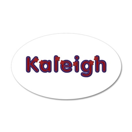 Kaleigh Red Caps 35x21 Oval Wall Decal