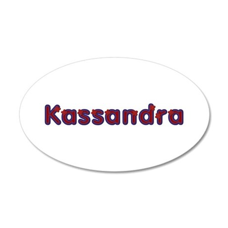 Kassandra Red Caps 20x12 Oval Wall Decal
