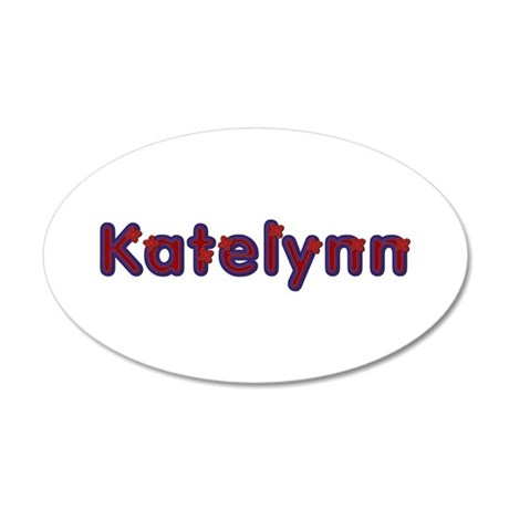 Katelynn Red Caps 20x12 Oval Wall Decal