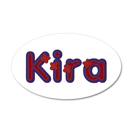 Kira Red Caps 35x21 Oval Wall Decal