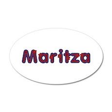 Maritza Red Caps 35x21 Oval Wall Decal