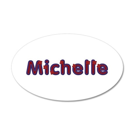 Michelle Red Caps 35x21 Oval Wall Decal