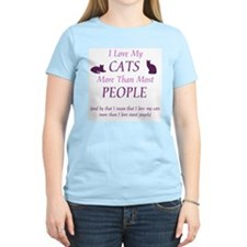 I Love My Cats 2 Women's Pink T-Shirt