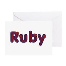 Ruby Red Caps Greeting Card