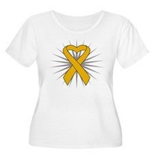 Appendix Cancer Heart Ribbon T-Shirt