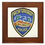 Palm Springs Police Framed Tile