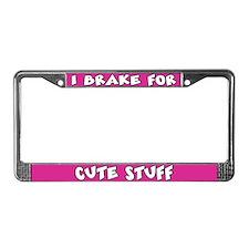 Cute Stuff License Plate Frame