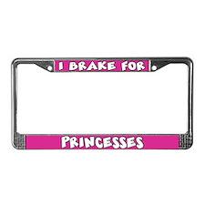 Princesses License Plate Frame