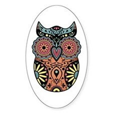 Sugar Skull Owl Color Decal