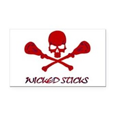 Lacrosse Wicked Sticks Rectangle Car Magnet
