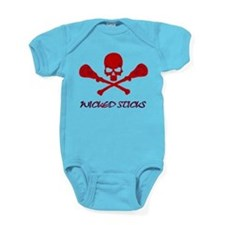 Lacrosse Wicked Sticks Baby Bodysuit