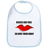 KISSES ARE FREE Bib