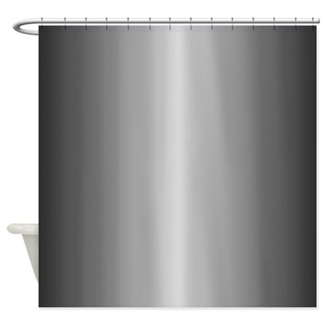 Grey Metallic Shiny Looking Shower Curtain By Graphicallusions